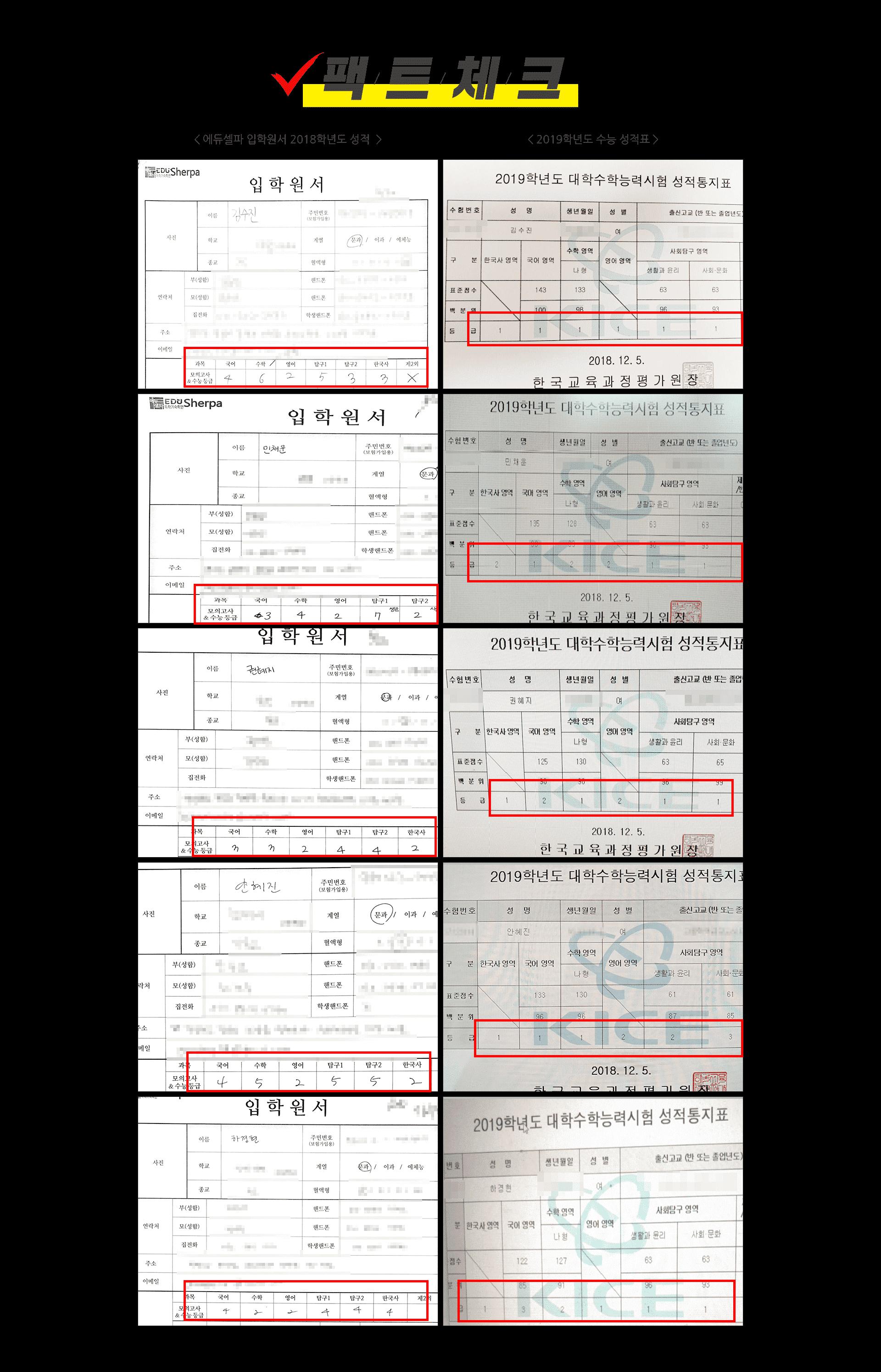성적변화스토리 성적표 팩트 pc